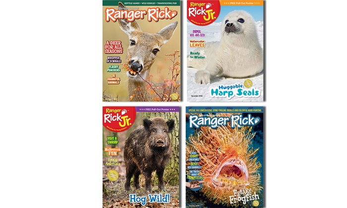 1-Year Subscription to Ranger Rick or Ranger Rick Jr. Magazines (10 Issues) (Up to 60% Off)