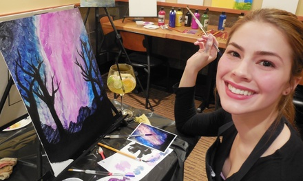 Two-hour Social Painting Event for One, Two, or Four from aLaCart Art (Up to 54% Off)