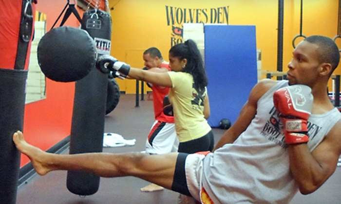Wolves Den Bootcamp - Port Washington: 5 or 10 Cardio-Kickboxing Classes at Wolves Den Boot Camp in Port Washington (Up to 73% Off)