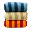 Striped Microplush Blanket