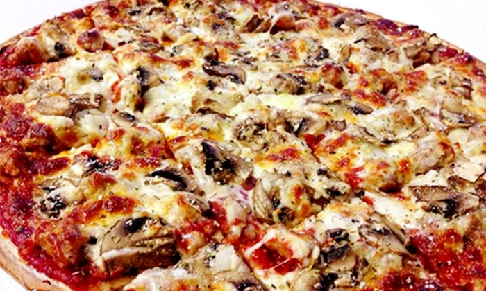 Valentina's Pizzeria - Cudahy: $14 for a Large Thin-Crust Pizza, Cheese Breadsticks, and Soda at Valentina's Pizzeria ($25.99 Value)