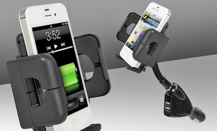 Xtreme Dual Port Power USB Car Mount