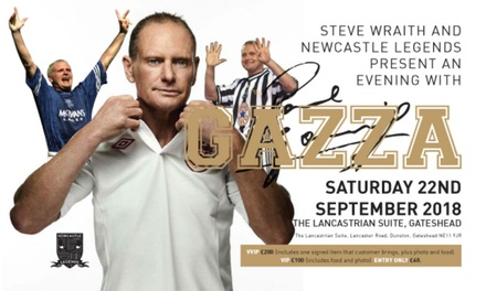 An Evening with Paul Gascoigne: One Entry Only, VIP or VVIP, 22 September, The Lancastrian Suite (Up to 33% Off)