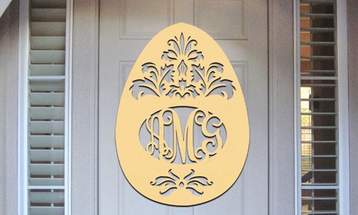 aMonogram Art: $19.99 for a Monogramed Easter Egg Decoration from Authentic Monogram ($48.50 Value)