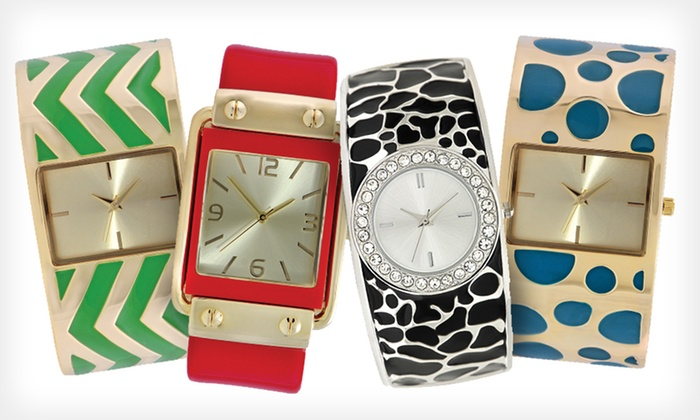 Women's Geneva Bangle Watch: $19 for a Women's Geneva Bangle Watch ($39.99 List Price). 11 Styles Available. Free Shipping and Free Returns.