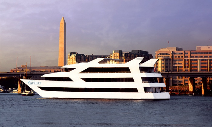 "Spirit of Washington - Spirit of Mount Vernon: Three-Hour Dinner Cruise Aboard ""Spirit of Washington"" (54% Off). Two Options Available."