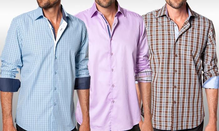 Levinas Men's Dress Shirts: Levinas Men's Dress Shirts. Multiple Styles Available. Free Returns.