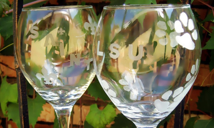Create Studios - Highlands/Perkins: $17 for a BYOB Wine Glass Etching Class for One at Create Studios ($35 Value)