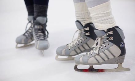 Ice Skating with Skate Rental and Beverages for Two or Four at Palm Beach Ice Works (51% Off)