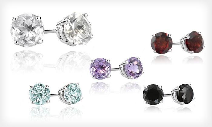 Gemstone Stud Earrings: $14.99 for One Pair of Gemstone Stud Earrings ($99.99 List Price). Five Styles Available.