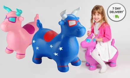 Benny the Jumping Bull Toy. Multiple Colors Available. Free Returns.