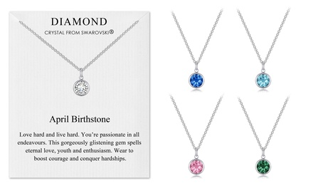 Philip Jones Birthstone Necklace with Crystal from Swarovski®