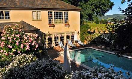 Stay at Vineyard Country Inn in St. Helena, CA. Dates into April.