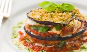Da Zia Delfina: Menu vegetariano di 4 portate con calice di vino per 2 o 4 persone da Da Zia Delfina