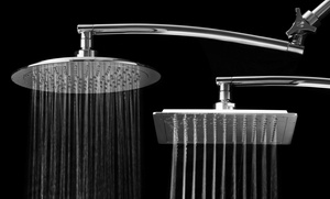 """Razor 9"""" Rainfall Round or Square Showerhead with 15"""" Arch Arm"""