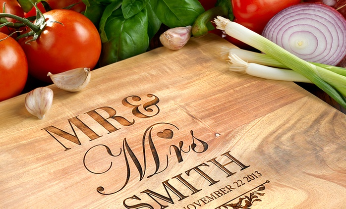 Personalised Acacia Wooden Chopping Board - Small ($25), Medium ($35), or Large ($45) (Don't Pay Up to $196.16)