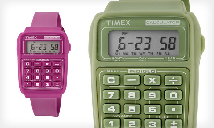 Timex Unisex Retro Calculator Watch: $25 for a Timex Unisex Retro Calculator Watch ($80 List Price). Two Colours Available. Free Returns.