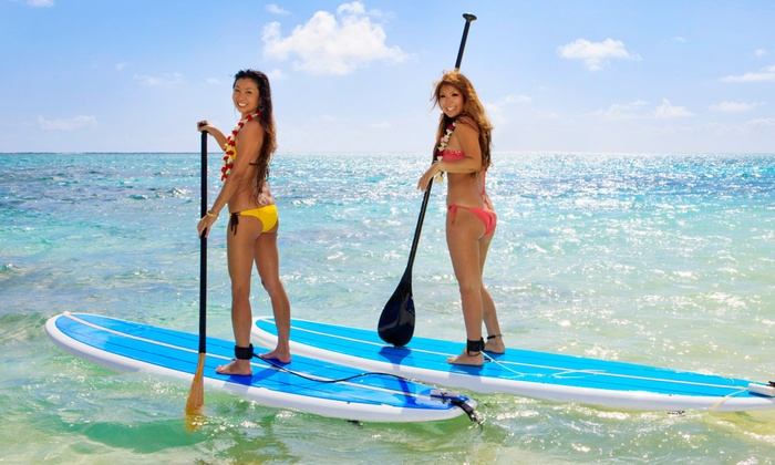 Life's A Beach Watersports - Lighthouse Cove Condominiums: Paddleboard Rentals from Life's A Beach Watersports (Up to 64% Off). Three Options Available.