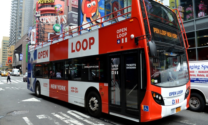Open Loop - Hell's Kitchen: One-Day All Loops Double Decker Bus Tour Ticket for Four from Open Loop New York (Up to 34% Off)