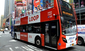 OPEN LOOP: All Loops Double Decker Bus Tour Tickets for Four from Open Loop New York (Up to 34% Off)