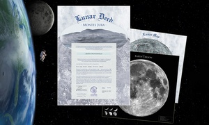 n-ice Geschenkideen: Mondgrundstück 716.000 qm, optional mit Mondausweis, bei n-ice Geschenkideen (bis zu 64% sparen*9