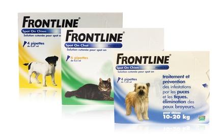 pipettes frontline spoton pour chat et chien contre les puces et les tiques france deals. Black Bedroom Furniture Sets. Home Design Ideas