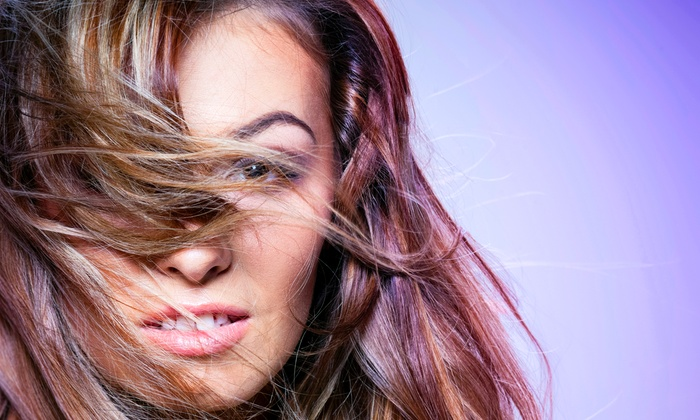 Blue Moon Salon - Red Oak: Haircut, Deep-Conditioner, and Style with Options for Highlights or Lowlights at Blue Moon Salon (Up to 73% Off)
