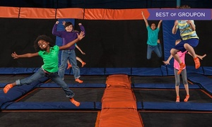 Sky Zone Indoor Trampoline Park: Jump Sessions, SkyRobics, or Party for 10 at Sky Zone Indoor Trampoline Park (Up to 46% Off). Four Options.