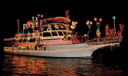 Christmas Lights or Boat Parade Cruise from Newport Fun Tours (Up to 79% Off). Three Options Available.