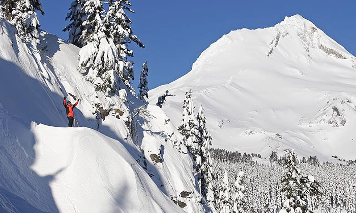 Mt. Hood Meadows Resort - Mt. Hood: Snowshoeing for 2 with Optional Dining Voucher, or Snowshoeing for 4 at Mt. Hood Meadows Resort (Up to 48% Off)