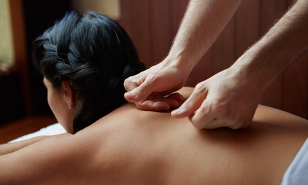 Back, Neck and Shoulder Massage or Full-Body Massage with Optional Facial at Blu Nuvo (Up to 57% Off)