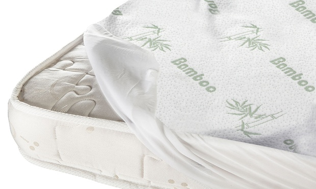 Bamboo Fitted Mattress Protector Groupon Goods