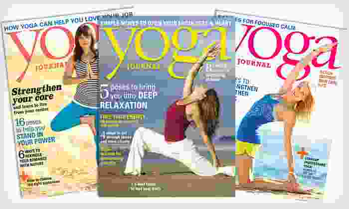 Yoga Journal Magazine Subscription: $7 for a 1-Year, 9-Issue Subscription to Yoga Journal Magazine ($13.95 List Price). Free Shipping.
