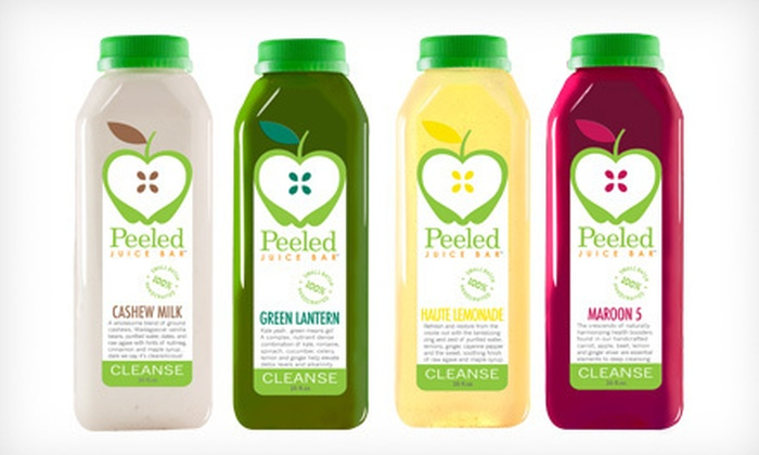 Peeled - Multiple Locations: Three- or Five-Day Juice Cleanse at Peeled (Up to 55% Off)