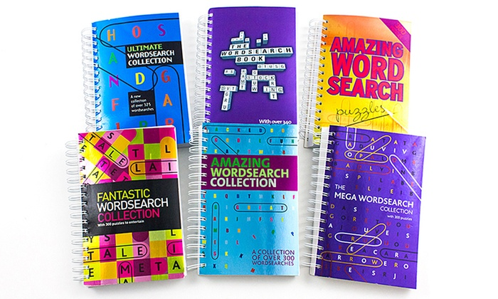 The Ultimate Word-Search Collection With 6 Spiral Puzzle Books Groupon