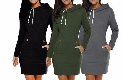 Vestido con capucha para mujer (envío gratuito)
