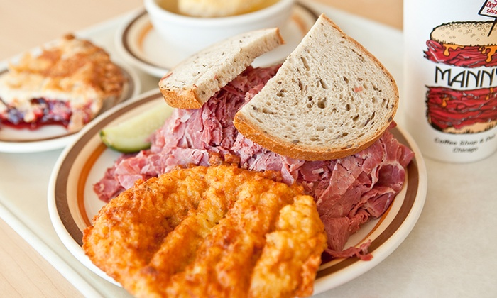 Manny's Cafeteria and Delicatessen - Chicago: Deli Sandwiches or Entrées for Two or Four at Manny's Cafeteria and Delicatessen (Up to 41% Off)