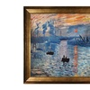 Claude Monet's Impression, Sunrise: Hand-Painted on Canvas and Framed