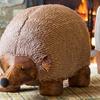 Faux Leather Hedgehog Ottoman