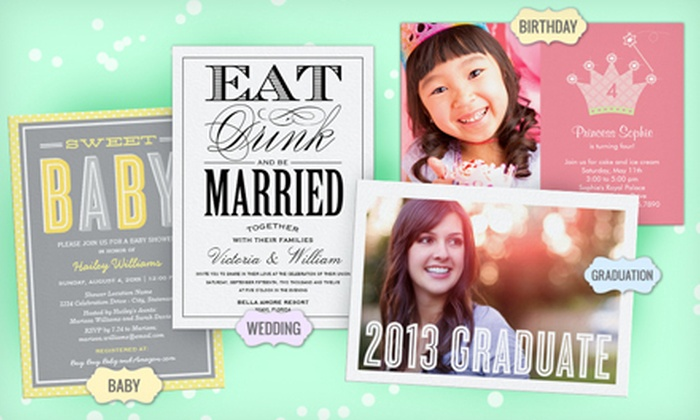 """Personalized Photo Cards from Zazzle: 40, 75 or 110 5""""x7"""" Custom Photo Invitations from Zazzle with Envelopes (Up to 76% Off). Free Shipping."""