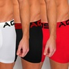 AQS Men's Boxer Briefs (3-Pack)