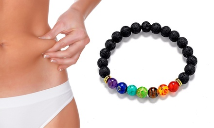 Armbanden Healing 7 Chakras met lavastenen
