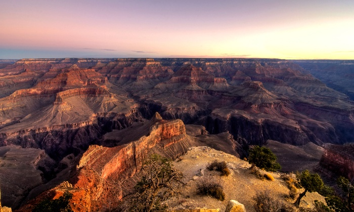 Comedy on Deck Tours - Multiple Locations: Grand Canyon Express Tour of the West Rim for One with Optional Meals from Comedy on Deck Tours (Up to 51% Off)