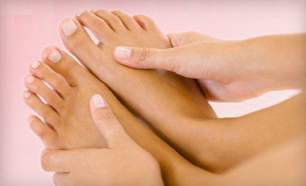 Lashful Mani-Pedi or Shellac Manicure and Lashful Pedicure at Lashful Day Spa (Up to 55% Off)