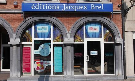Promenade de Bruxelles pour 2 personnes à travers les yeux de Jacques Brel avec les Editions Jacques Brel à 9 €