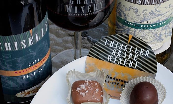 The Chiselled Grape Winery - Cedarburg: Wine and Chocolate Tasting Experience for Two or Four at The Chiselled Grape Winery (Up to 42% Off)