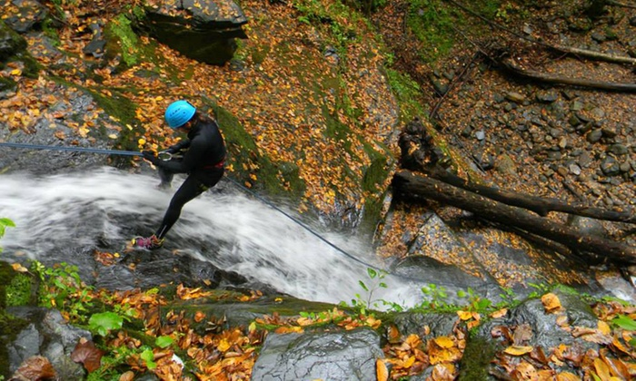 Northeast Mountain Guiding - Slateford Falls: Two-Hour Waterfall Rappelling Experience for One or Two from Northeast Mountain Guiding (Up to 66% Off)