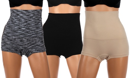 3-Pack of Women's Tummy Control High-Waisted Shapewear Bottoms