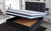 Canapé de polipiel, cabecero y colchón de viscoelástica Roller