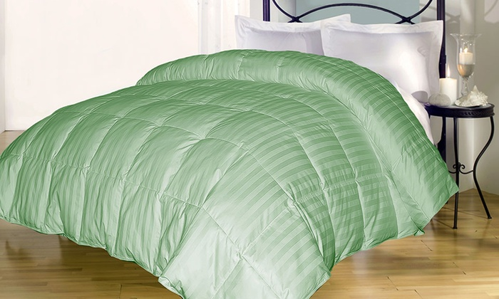 Royal Majesty 400 TC Damask Stripe Down Alternative Comforter: Royal Majesty 400-Thread-Count Damask Stripe Down Alternative Comforter. Multiple Colors Available. Free Returns.
